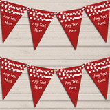Red Watercolour Lights Tea Party Bunting Garland Party Banner