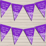 Purple Burlap & Lace Tea Party Bunting Garland Party Banner