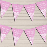 Pink Burlap & Lace Tea Party Bunting Garland Party Banner