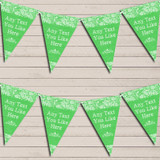 Pretty Lace Green Tea Party Bunting Garland Party Banner