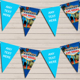 Blue Las Vegas Tea Party Bunting Garland Party Banner