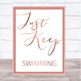 Rose Gold Just Keep Swimming Finding Nemo Quote Wall Art Print
