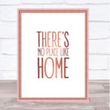 Rose Gold No Place Like Home Wizard Oz Movie Quote Wall Art Print
