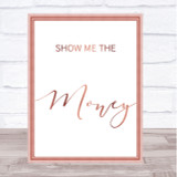 Rose Gold Show Me The Money Jerry Maguire Movie Quote Wall Art Print