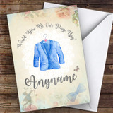 Page Boy Vintage Suit On Hanger Floral Will You Be My Page Boy Personalised Card