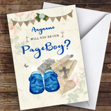 Vintage Shoes Will You Be My Page Boy Personalised Greetings Card