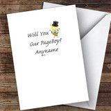 Bumble Bee Will You Be My Page Boy Personalised Greetings Card