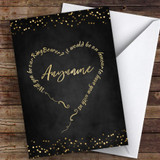 Text Heart Chalk Lights Will You Be My Ring Bearer Personalised Greetings Card