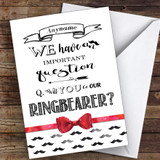 Ringbearer Moustache Will You Be My Ring Bearer Personalised Greetings Card
