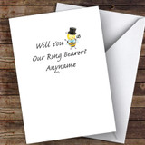 Bumble Bee Will You Be My Ring Bearer Personalised Greetings Card