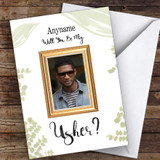 Funny Popstar Will You Be My Usher Personalised Greetings Card