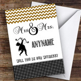 Gay Woman Cherub Stylish Will You Be My Witness Personalised Greetings Card