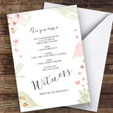 Watercolour Flowers Will You Be My Witness Personalised Greetings Card