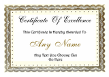 Personalised Certificate Award For Any Occasion You Like