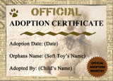 Teddy Bear Soft Toy Personalised Birth Or Adoption Certificate