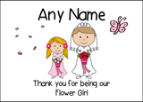 Thank You Flower Girl  Personalised Printed Certificate