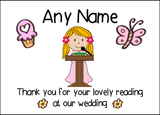 Thank You For Doing A Reading At Our Wedding Girl  Personalised Printed Certificate