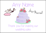 Thank You For Making Our Wedding Cake Lilac  Personalised Printed Certificate