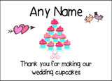 Thank You For Making Our Wedding Cupcakes  Personalised Printed Certificate