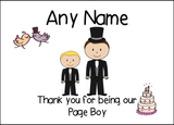 Thank You Page Boy  Personalised Printed Certificate