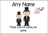 Thank You Usher  Personalised Printed Certificate