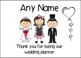 Thank You Wedding Planner  Personalised Printed Certificate