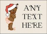 Vintage Xmas Brown Skin Girl Christmas Personalised Printed Certificate