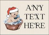 Vintage Xmas White Skin Boy in Bath Christmas Personalised Printed Certificate