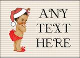 Vintage Xmas White Skin Girl Christmas Personalised Printed Certificate
