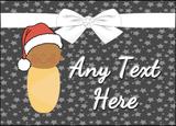 Xmas Brown Baby Christmas Personalised Printed Certificate