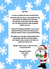 Blue Snowflake Personalised Christmas Letter From Santa