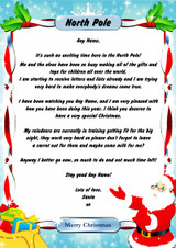 North Pole Blue Personalised Christmas Letter From Santa