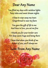 Yellow Mothers Gift Of Life Personalised Poem Certificate