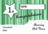 Blue Stripe Slimmer Of The Week Personalised Diet Certificate