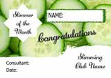 Cucumber Personalised Slimming Club Diet Weight Loss Certificate