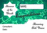 Green Horizon Slimmer Of The Week Personalised Diet Certificate