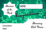Green Stars Slimmer Of The Month Personalised Diet Certificate