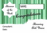 Green Stars Slimmer Of The Week Personalised Diet Certificate