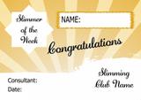 Orange Horizon Slimmer Of The Month Personalised Diet Certificate