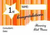 Orange Stars Personalised Slimming Club Diet Weight Loss Certificate