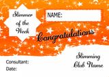 Orange Stars Slimmer Of The Month Personalised Diet Certificate