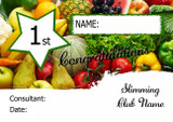 Orange Stripes Slimmer Of The Month Personalised Diet Certificate