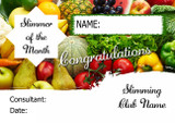 Pink Stars Slimmer Of The Month Personalised Diet Certificate