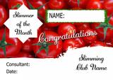 Pink Stars Slimmer Of The Week Personalised Diet Certificate