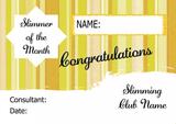 Yellow Stars Slimmer Of The Week Personalised Diet Certificate
