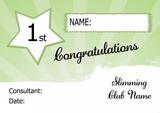 Yellow Stripe Slimmer Of The Week Personalised Diet Certificate