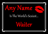 Waiter Personalised World's Sexiest Certificate