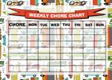 Weekly Chore Rota Task Reward Chart Bus Bike Car