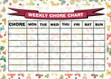 Weekly Chore Rota Task Reward Chart Butterflies