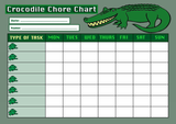 Weekly Chore Rota Task Reward Chart Crocodile
